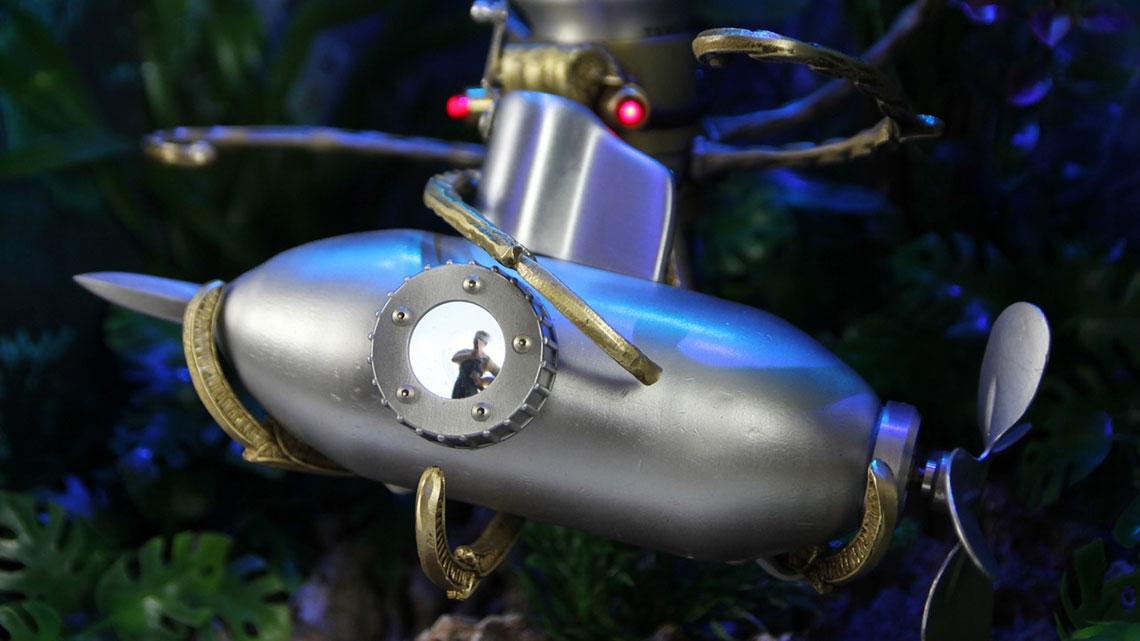 Diorama of Captain Nemo in the Nautilus battling the Giant Squid.