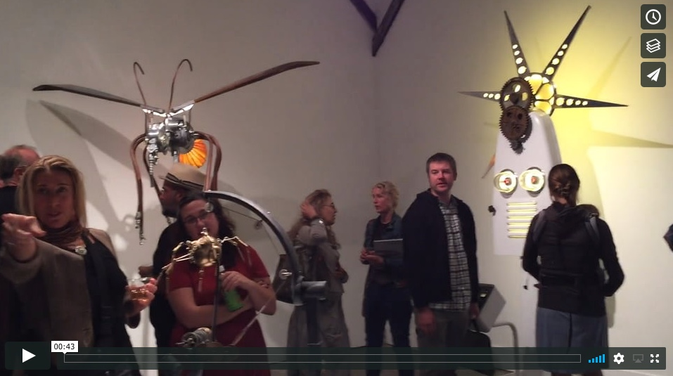 """""""Innovations in Obsolescence"""" opening reception."""